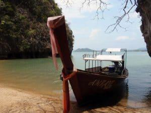 Barca long tail a Koh Talabeng