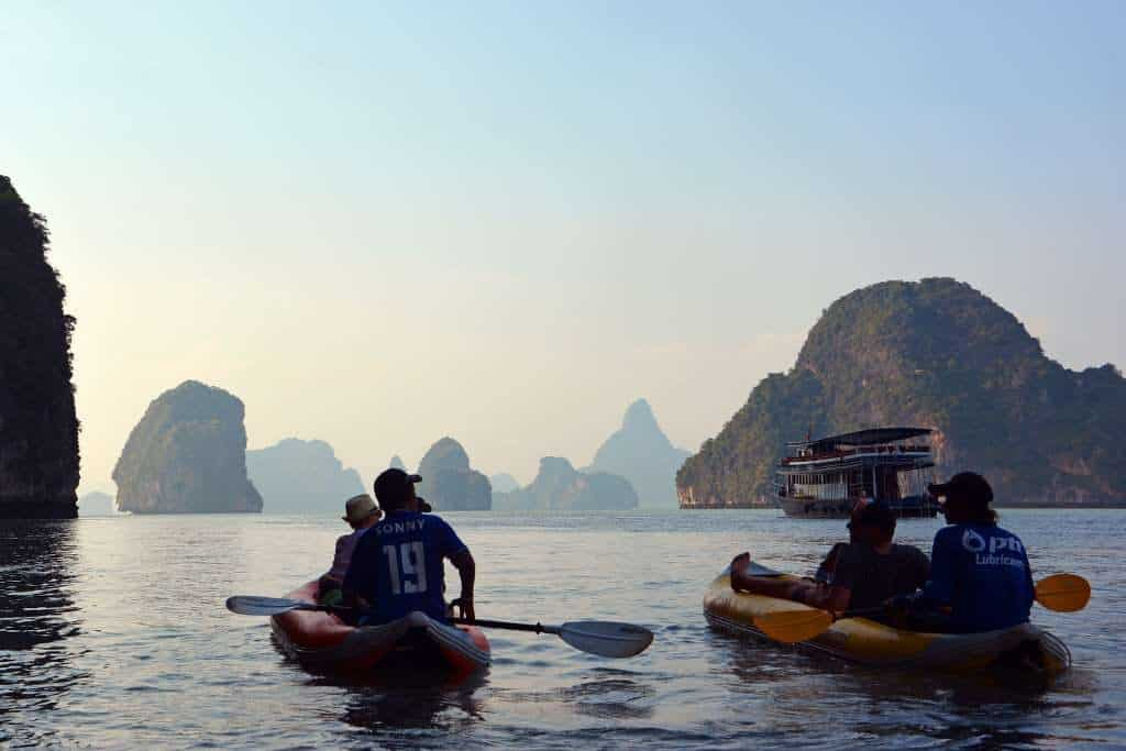 Kayaking a James Bond Island